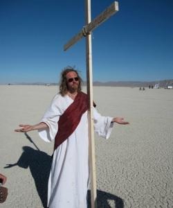 jesus burning man